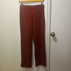 Cropped straight leg pants